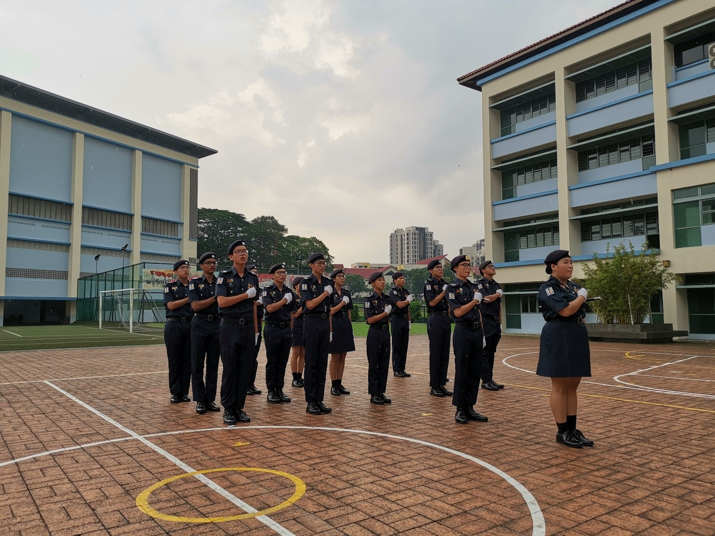 Graduating cadet leaders of class of 2019 taking the NPCC Pledge.jpg
